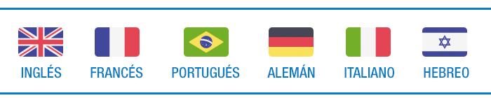 Idiomas: inglés, francés, portugués, alemán, italiano, hebreo