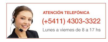 Atención Telefónica: (+5411) 4303-3322 - Lunes a Viernes de 8 a 17 hs.