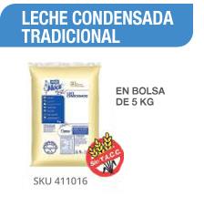 LECHE CONDENSADA TRANDICIONAL en bolsa de 5 kg