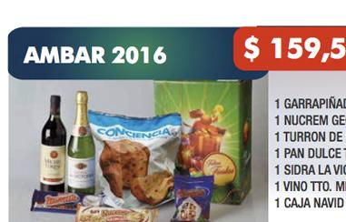 AMBAR 2016 / 7 ÍTEMS / $ 159,50 + IVA