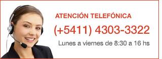 Atención Telefónica: (+5411) 4303-3322 - Lunes a Viernes de 8:30 a 16 hs.