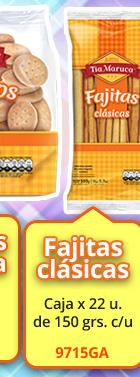 Fajitas clásicas -- caja de 22 u. de 150 grs c/u (9715GA)