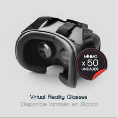 VIRTUAL REALITY GLASSES (disponible también en color blanco) --- mínimo x 50 unidades